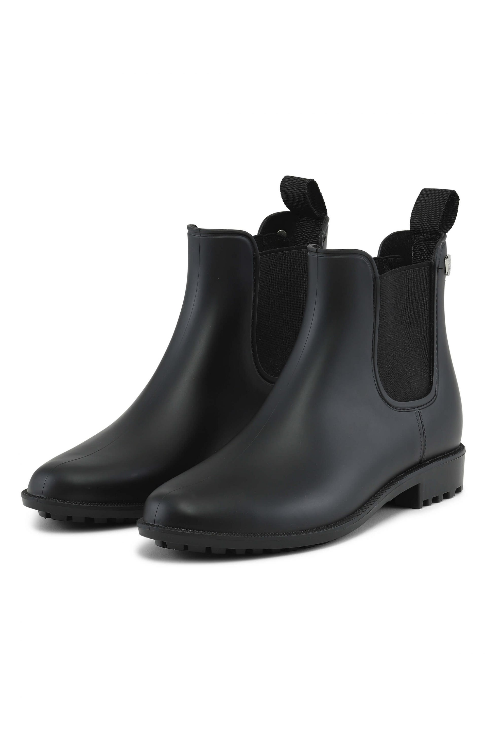 Black matte rainboots in a elegant design