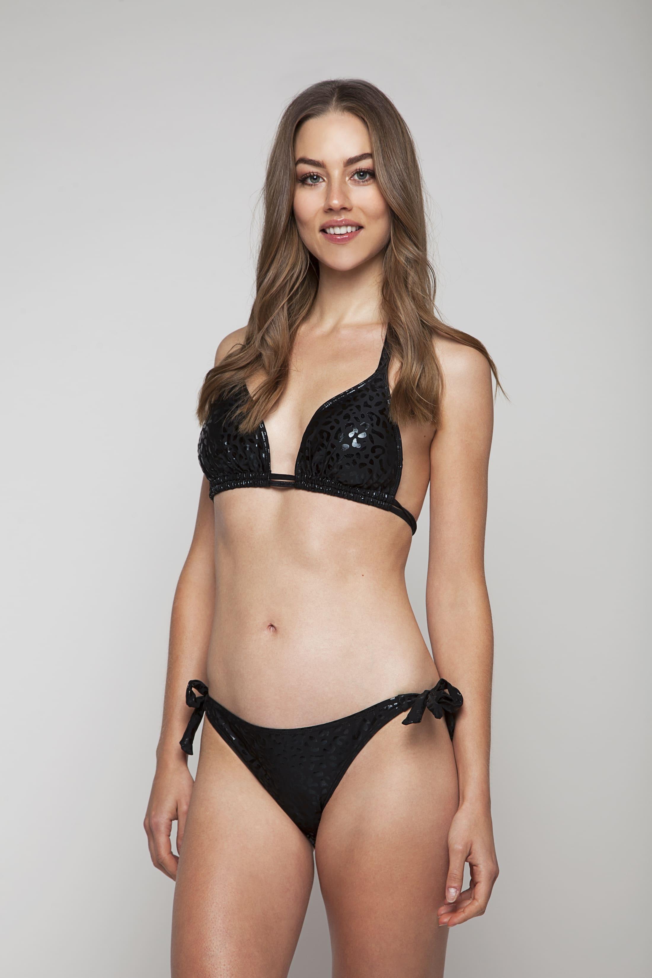 Black bikini top with structure