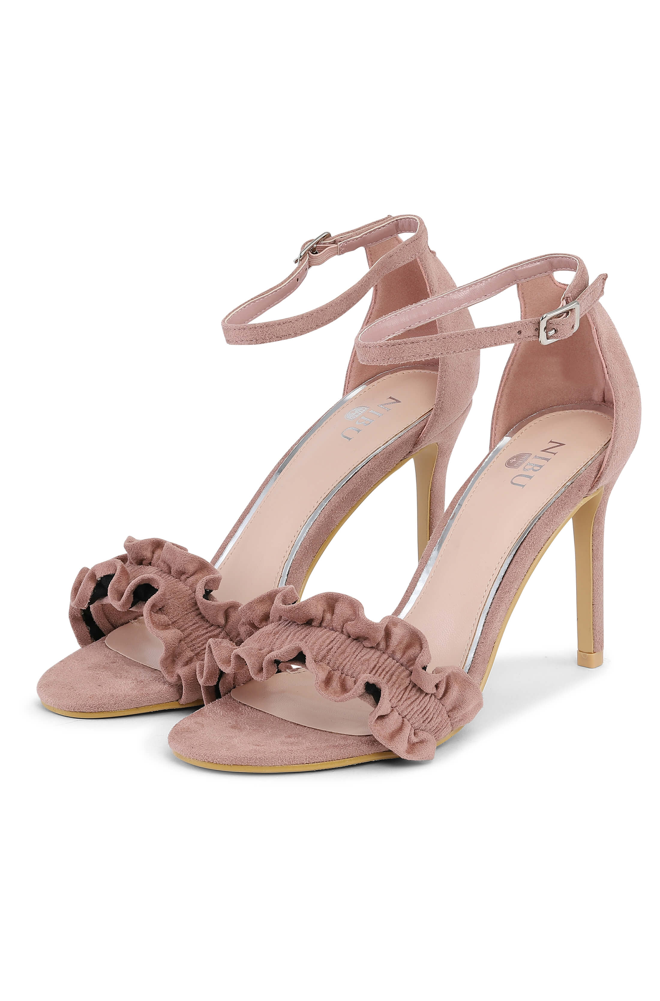 High heeled sunset beige sandal