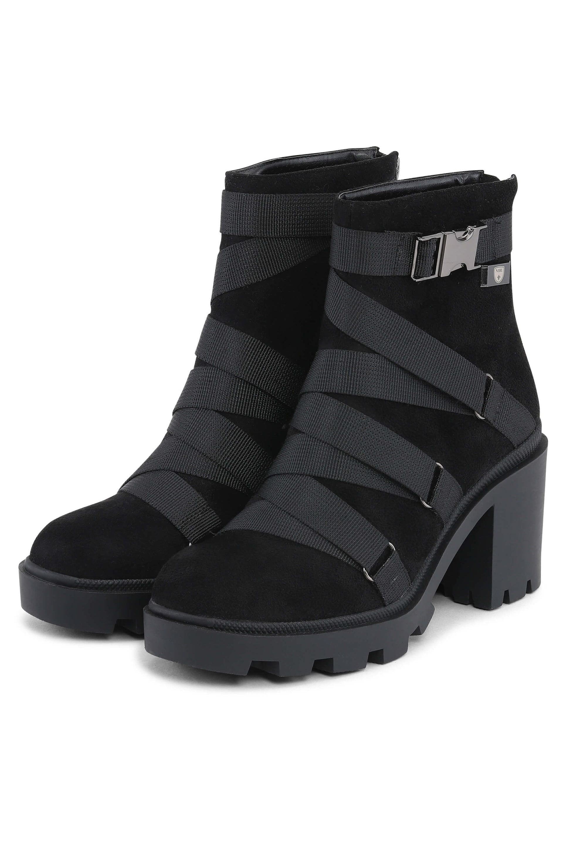 Black winterboots with high heels