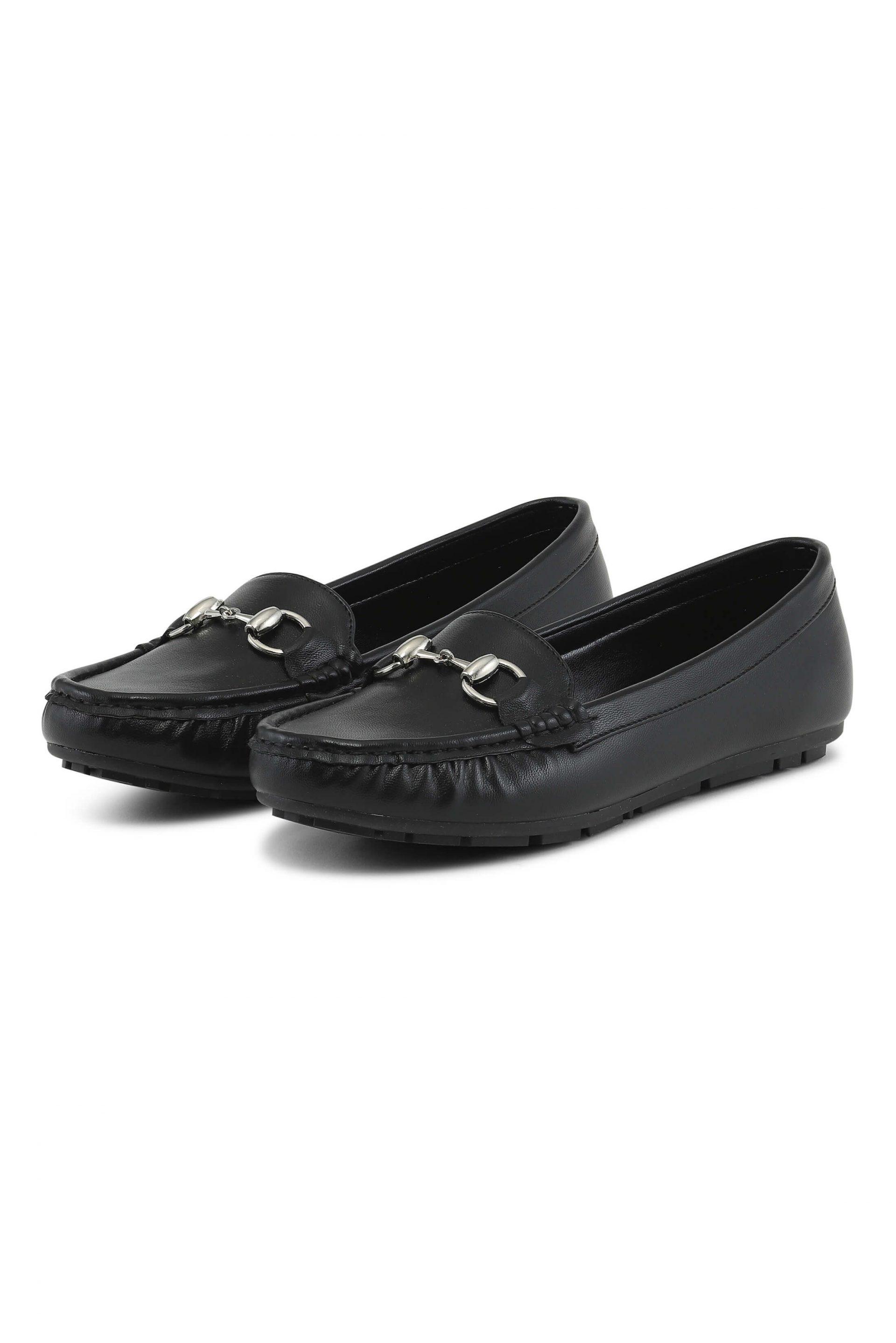 Soft black loafers