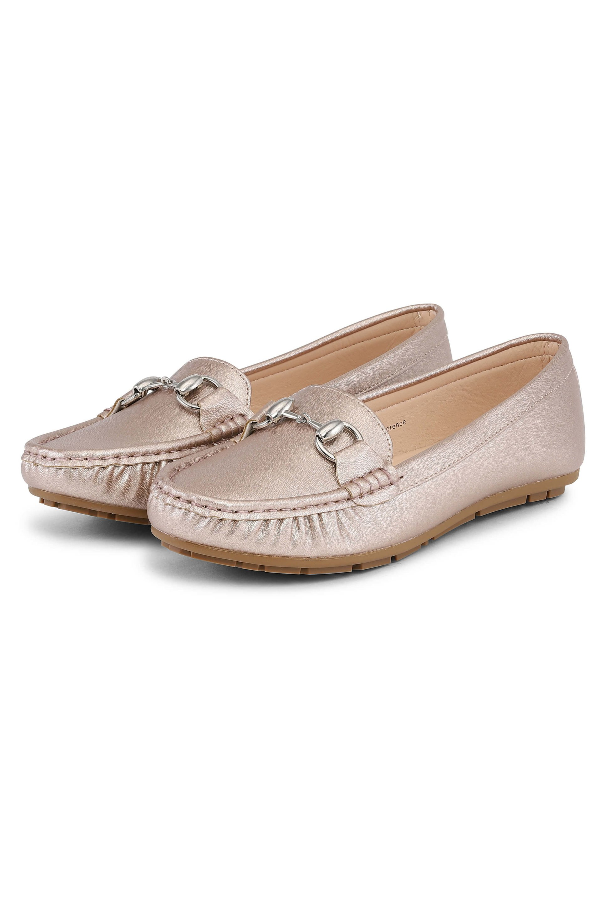 Soft sunset-beige loafers