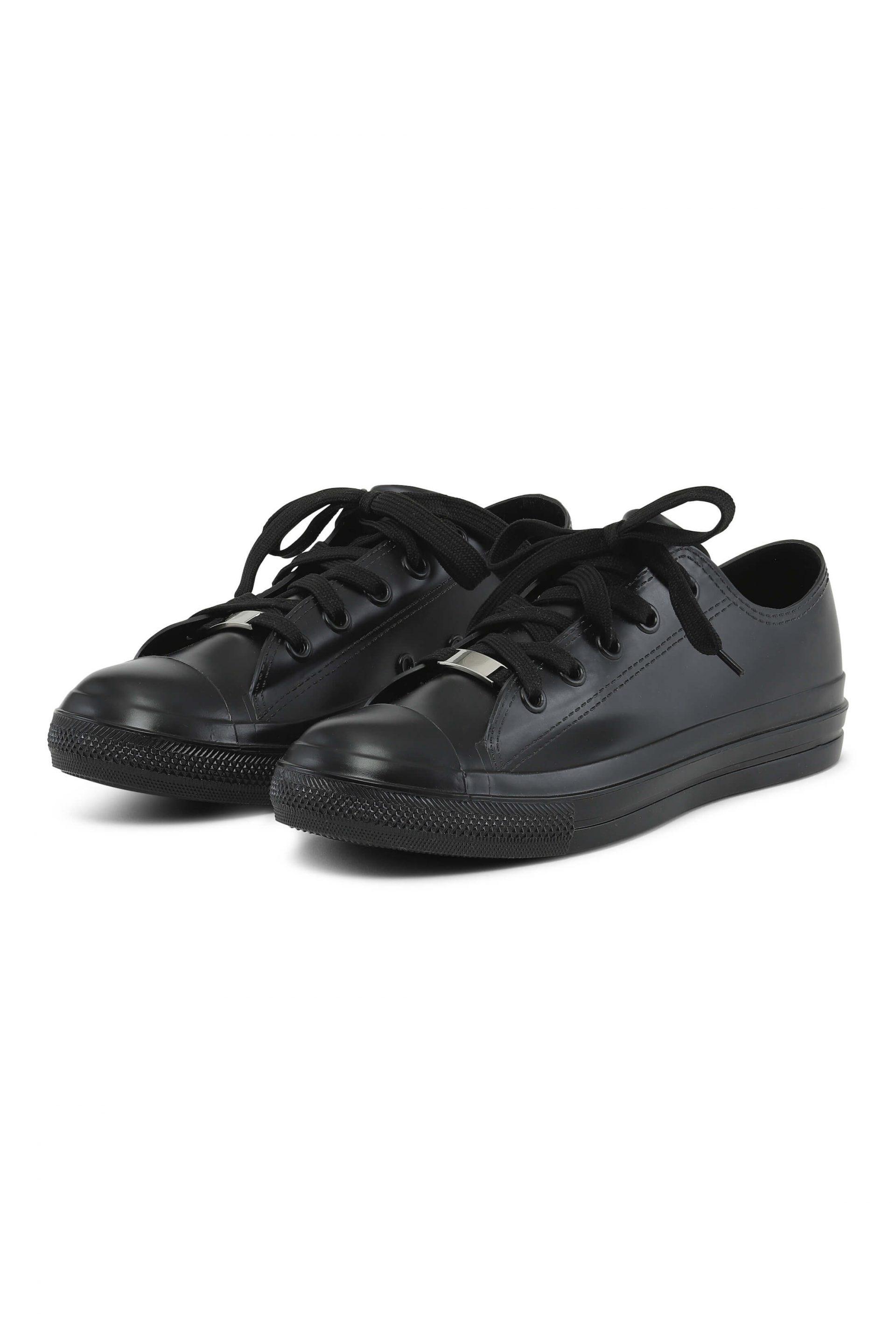 Black water-resistant sneakers