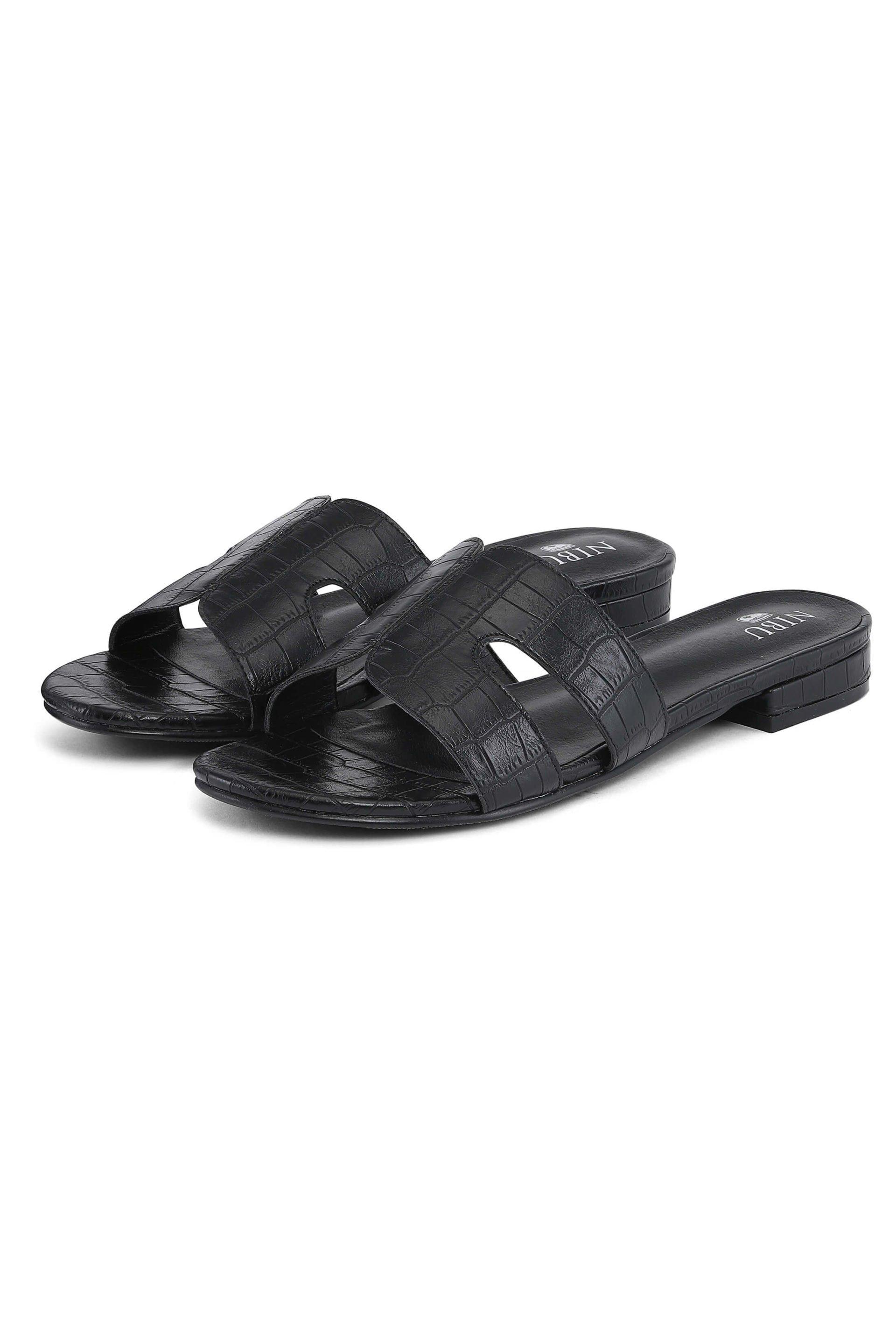 Soft black sandals