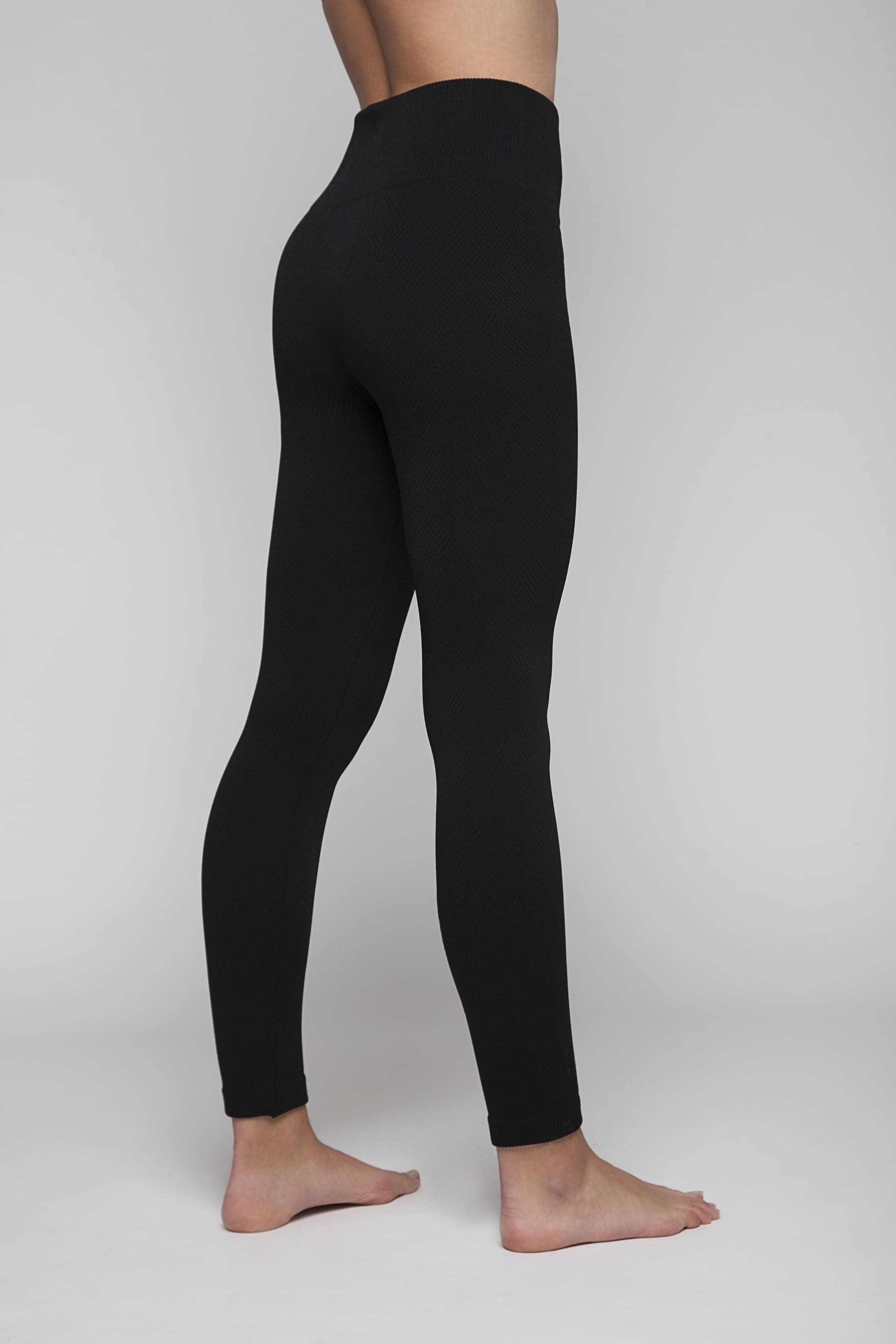 Black extra-soft leggings (structured)