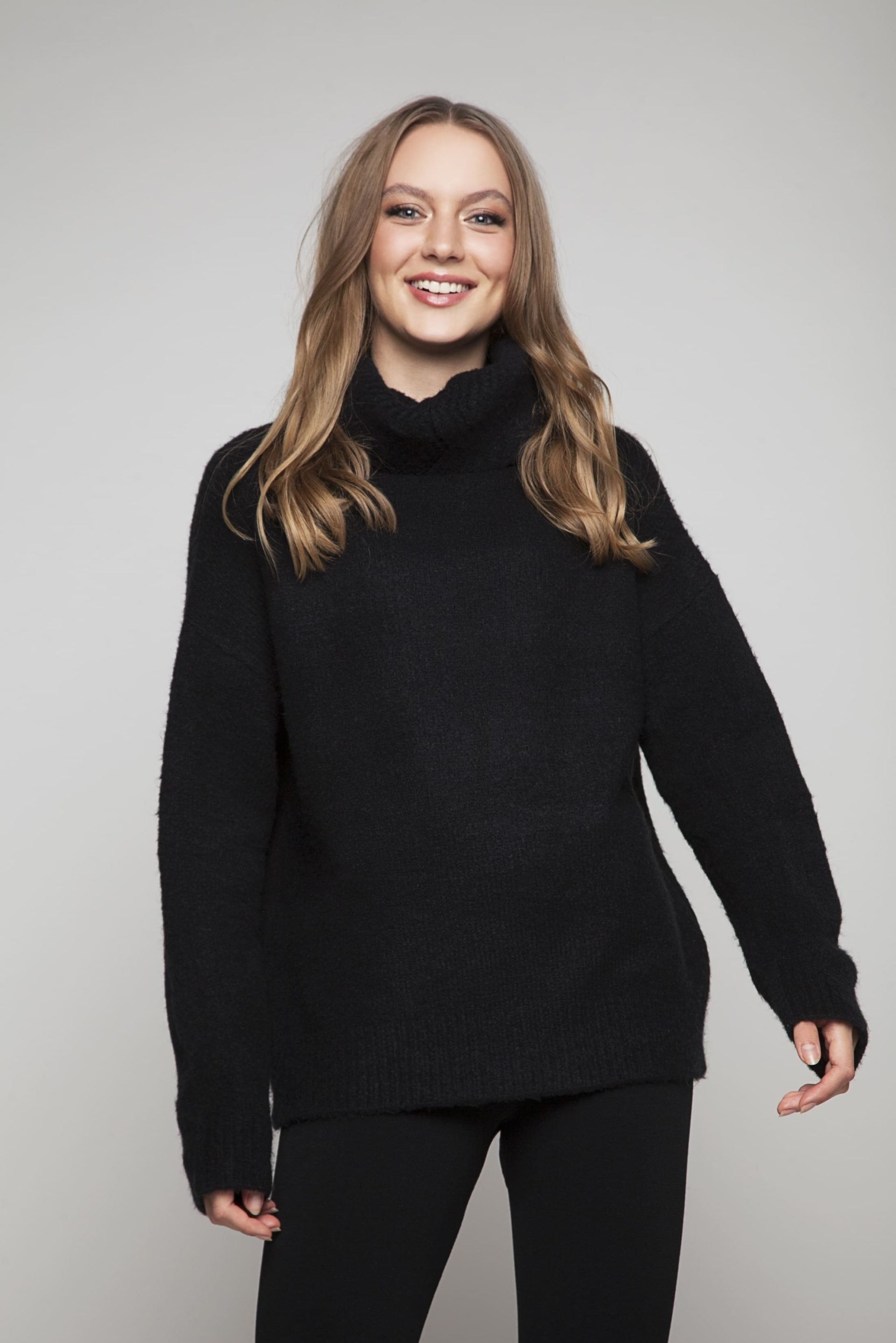 Super soft black turtleneck