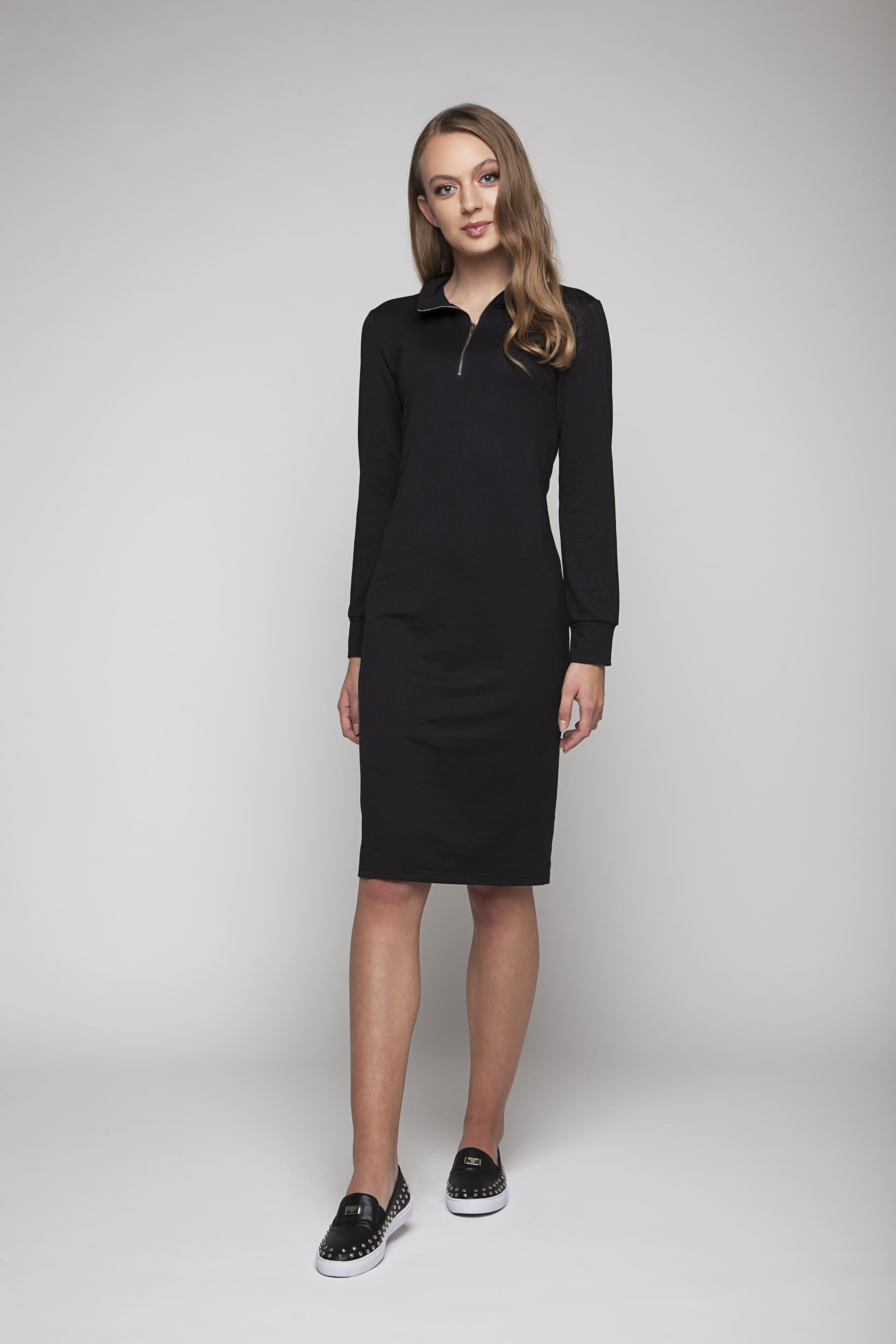 Black comfortable lounge dress