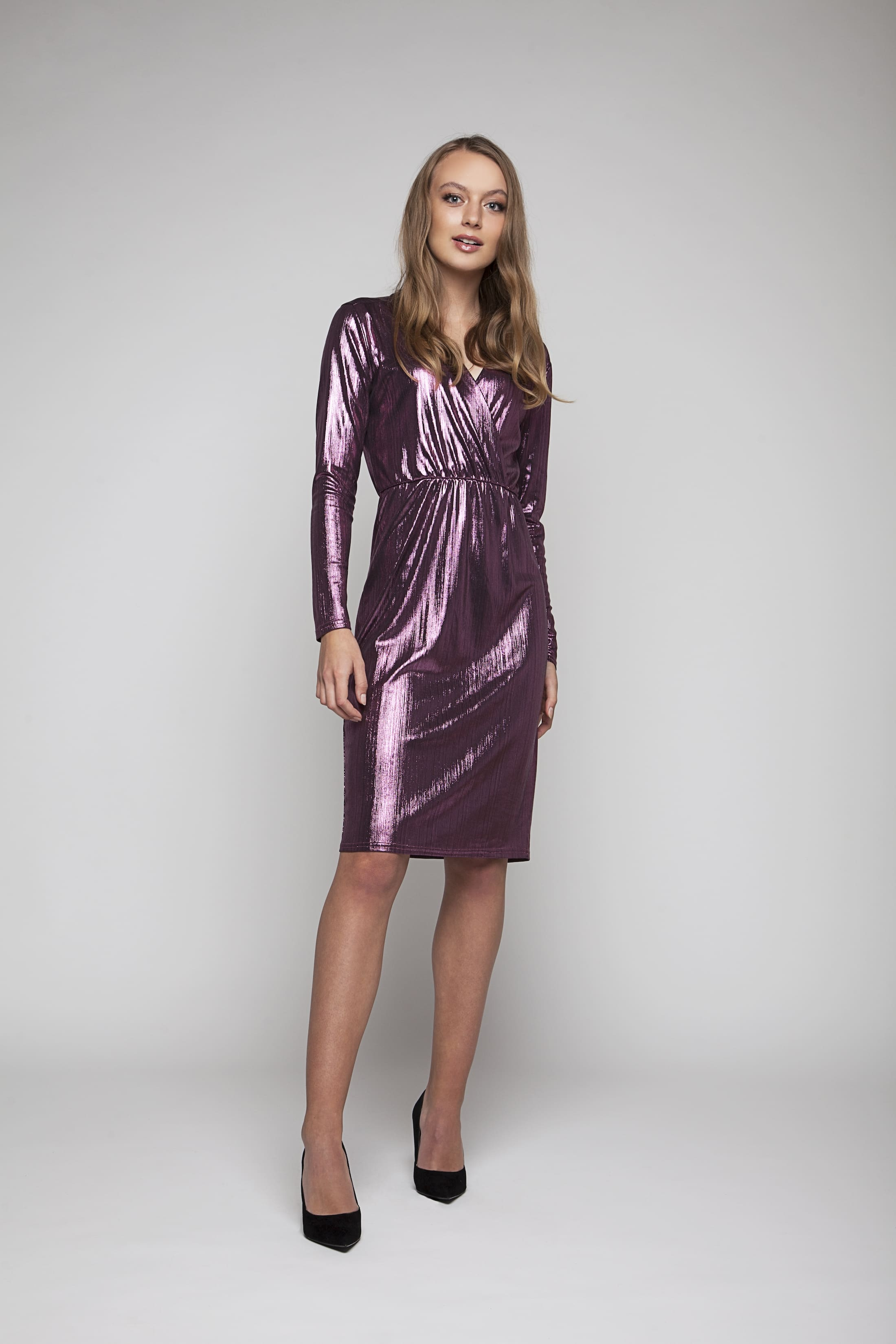 Rosa shimmering evening dress