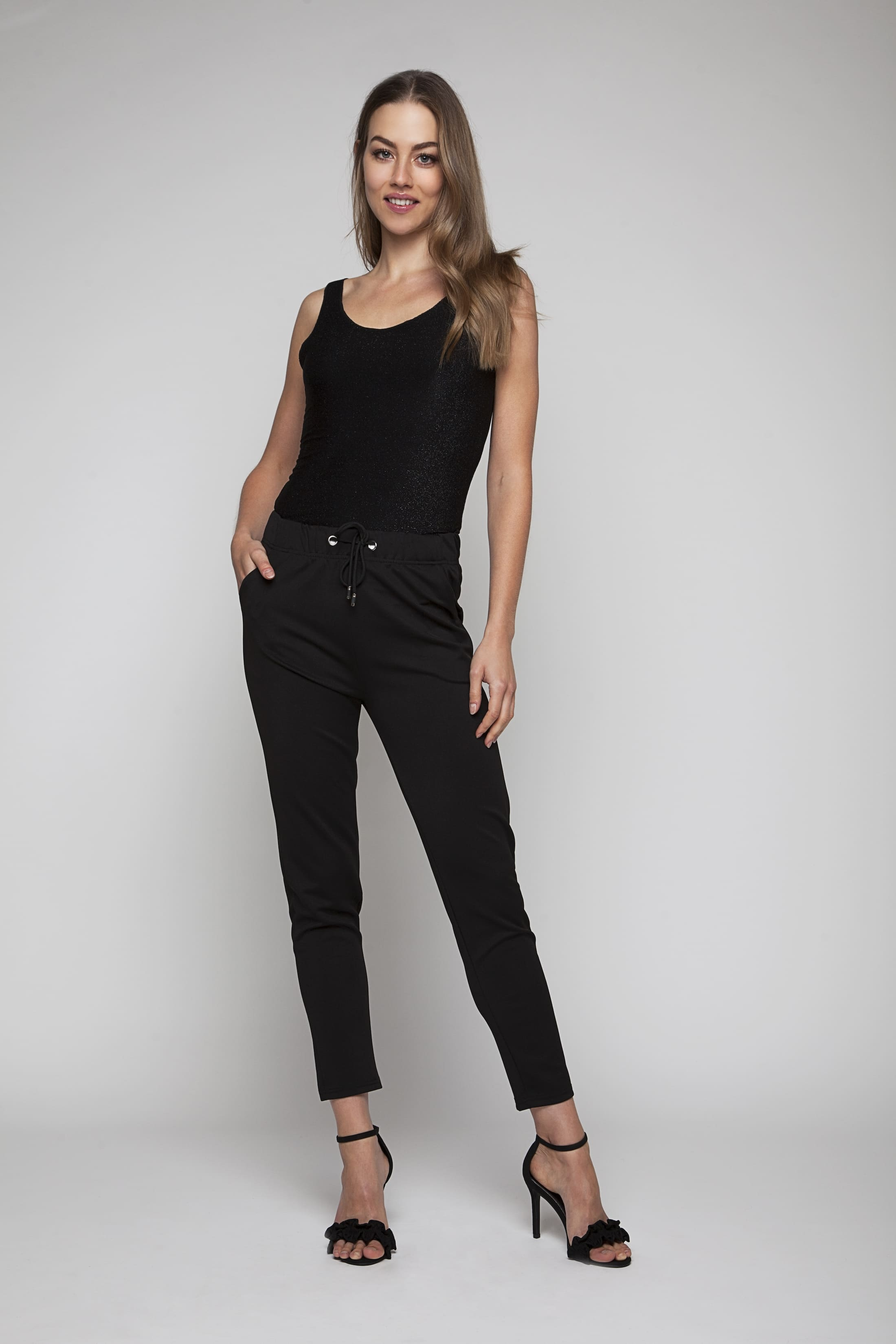 Soft black chinos with stretch fit