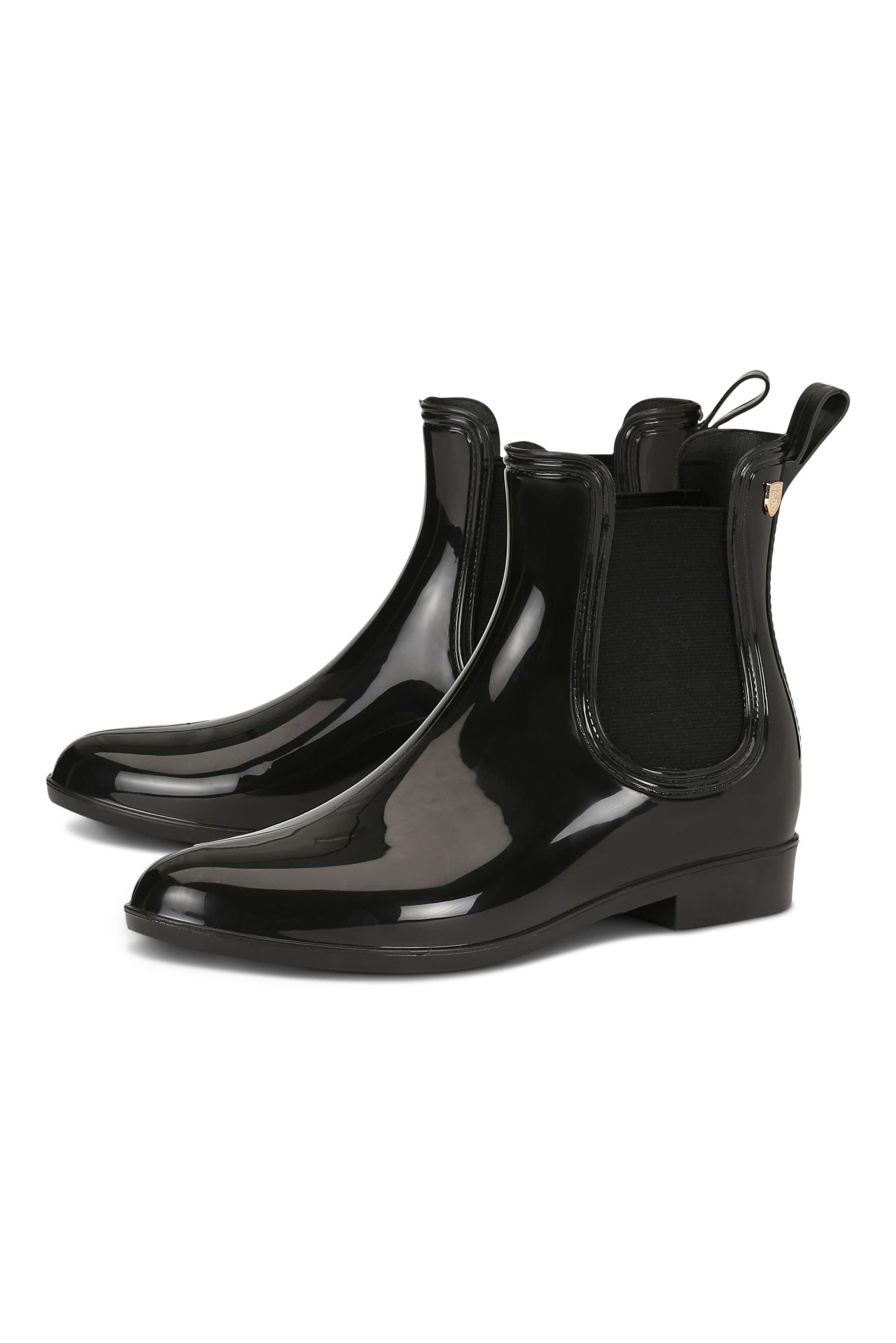 Chelsea rainboots in shiny black