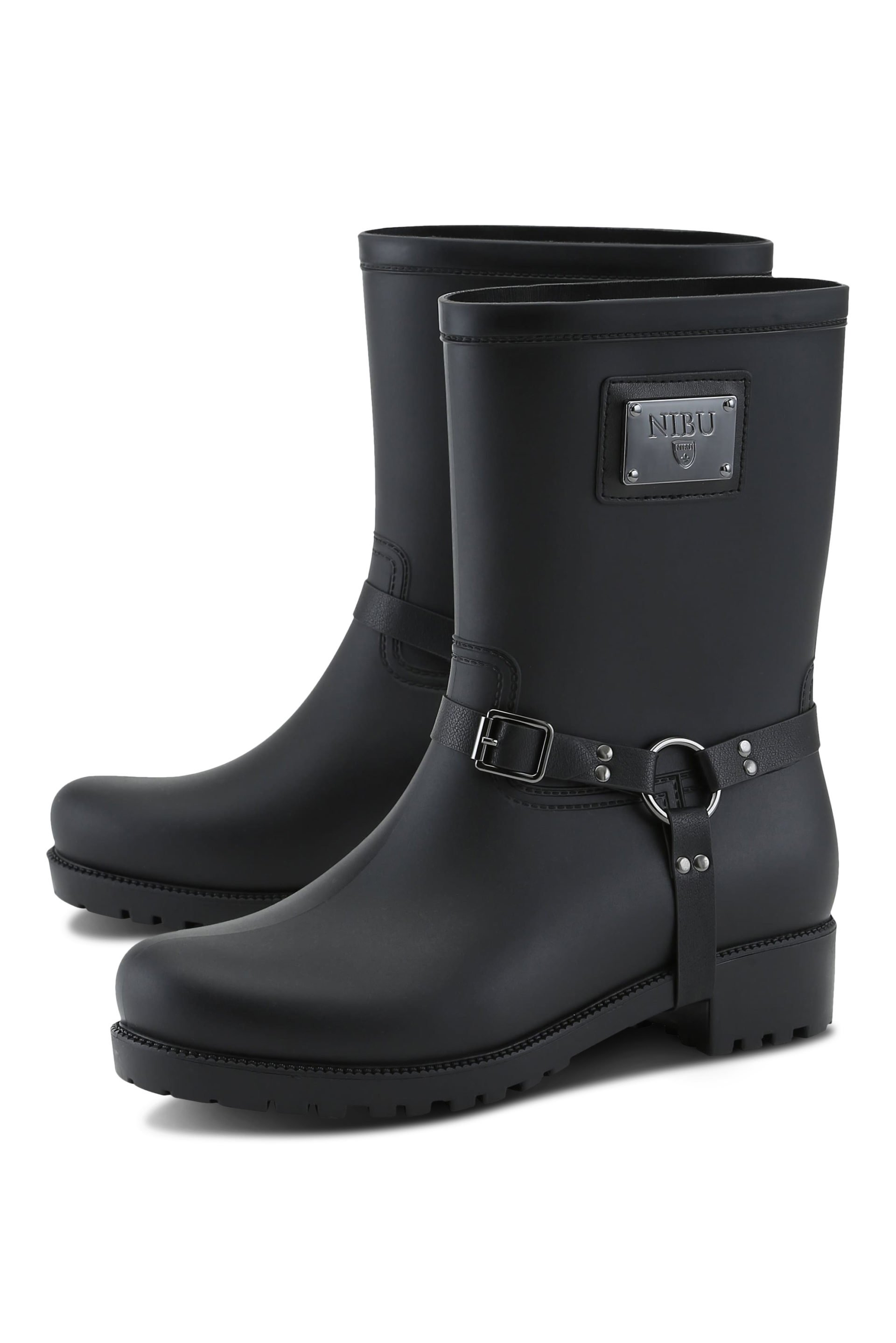 Biker rainboots with black logo