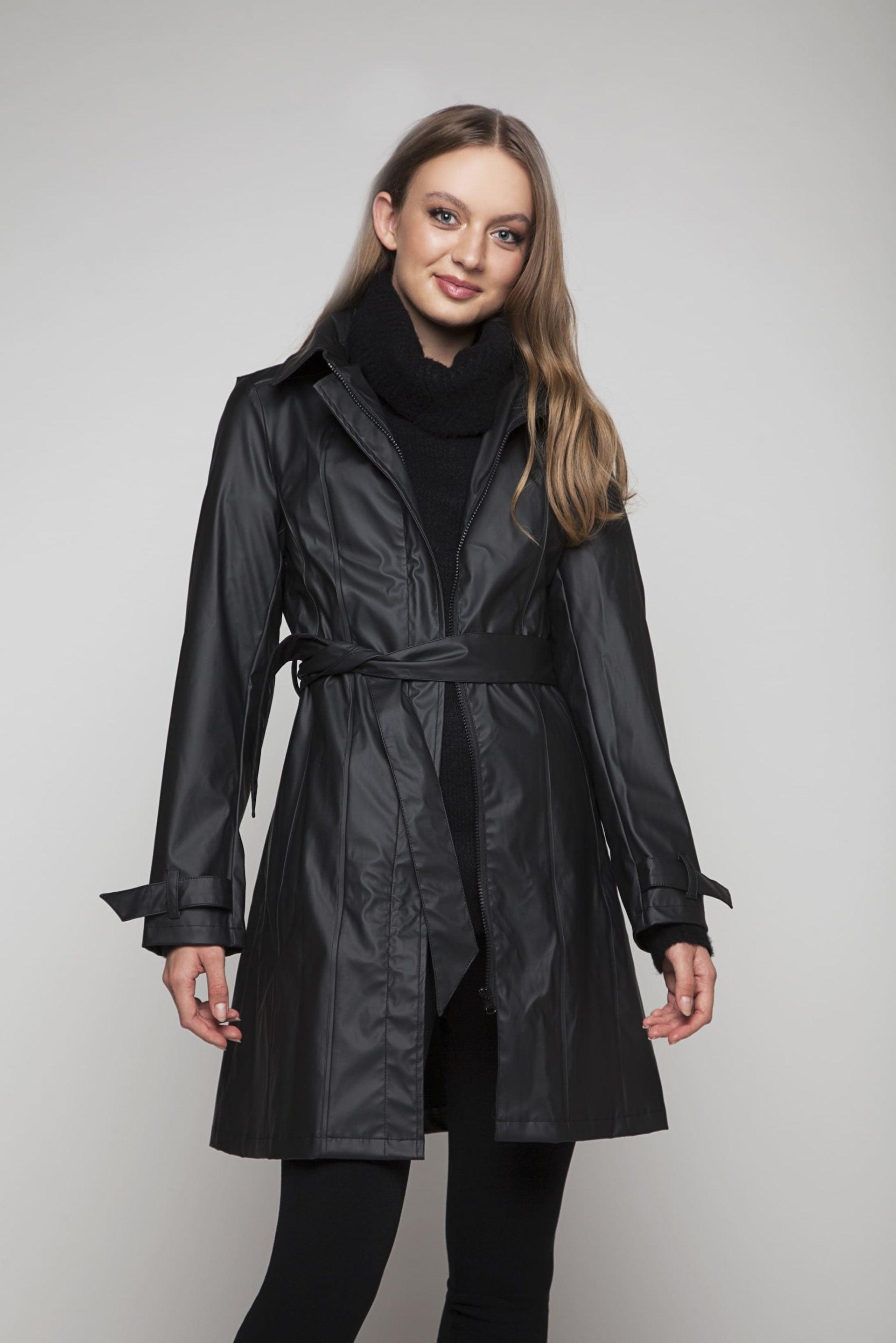 Classic trenchcoat style rainjacket