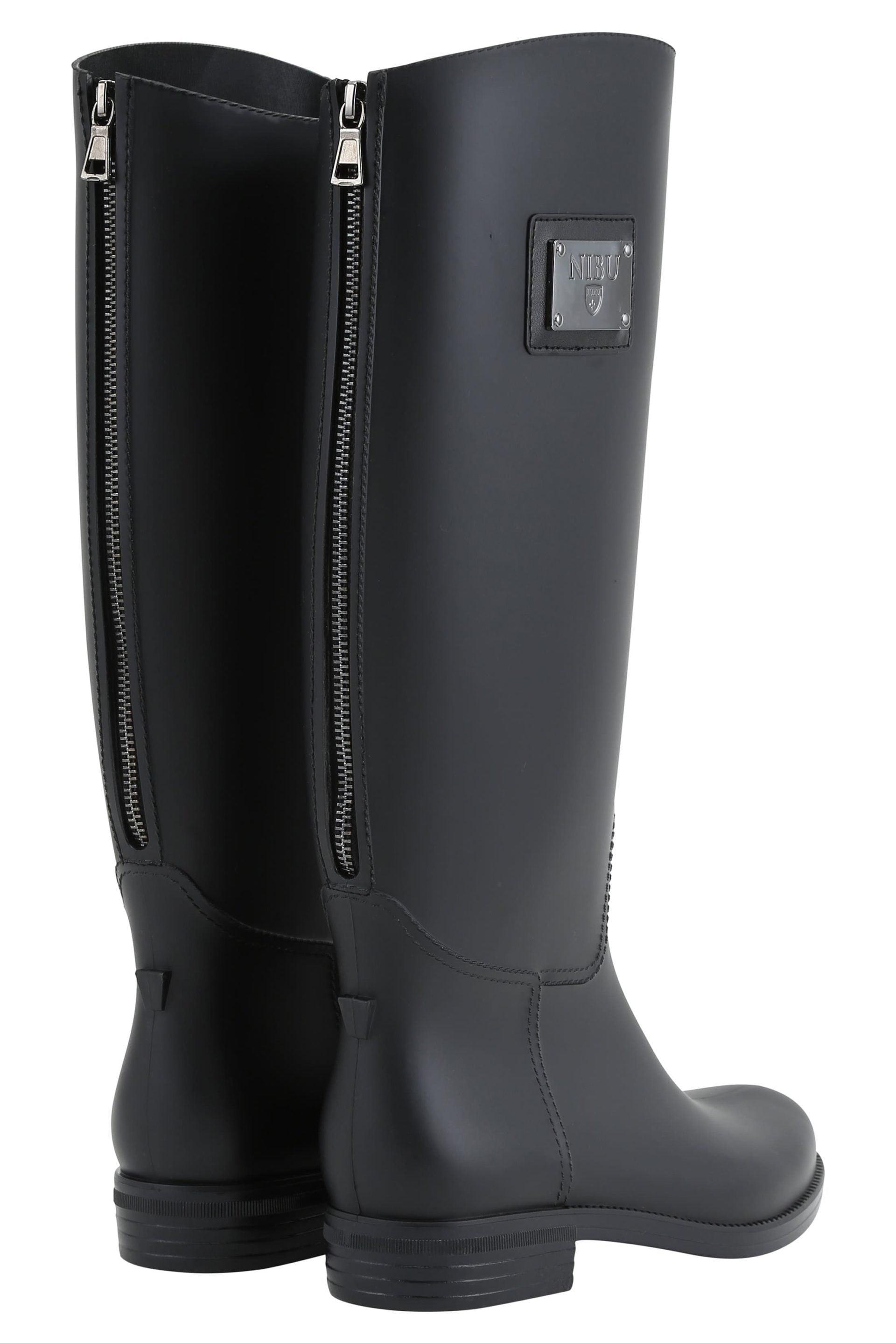 Rainboots with black-colour zipper