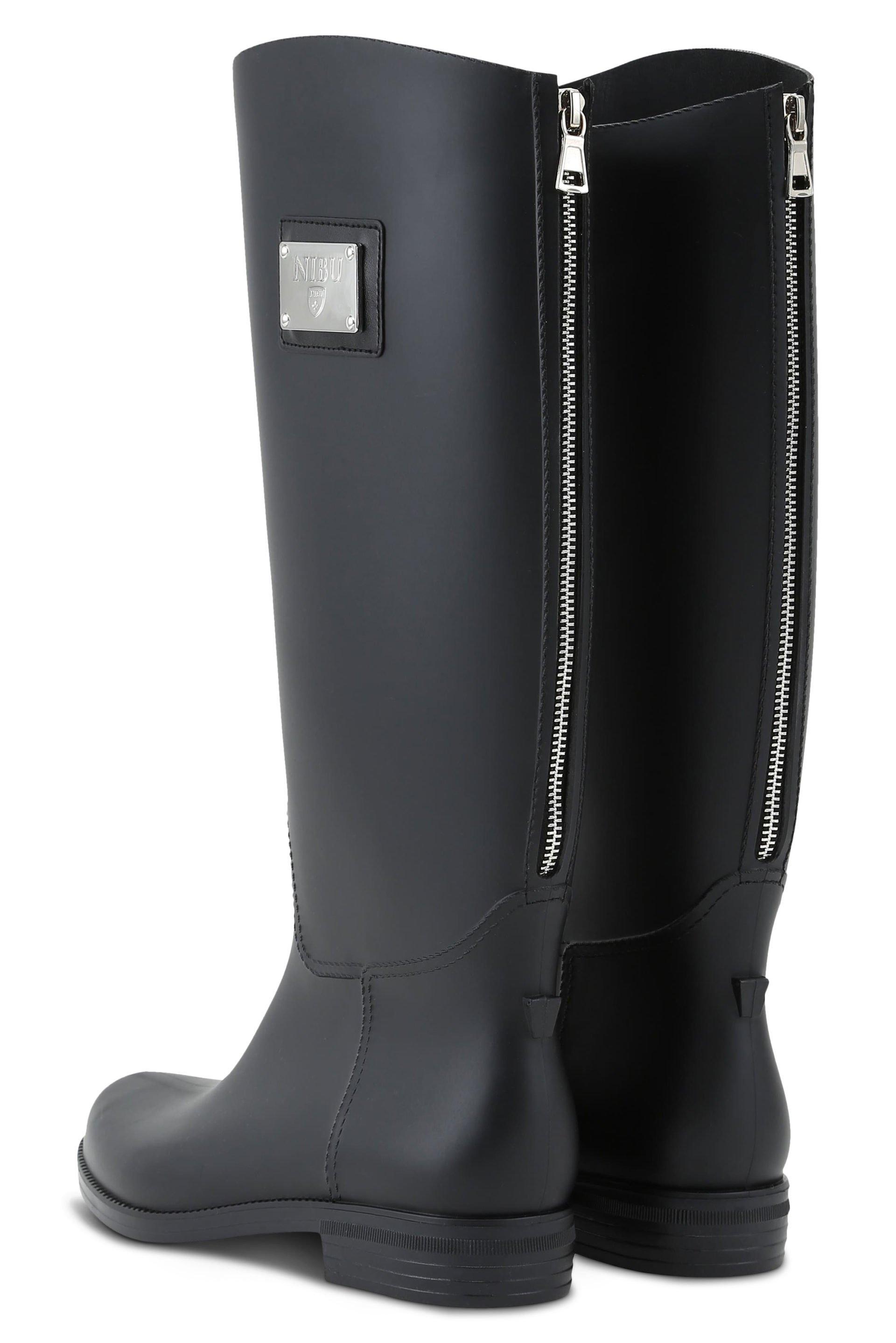 Rainboots with silver-colour zipper