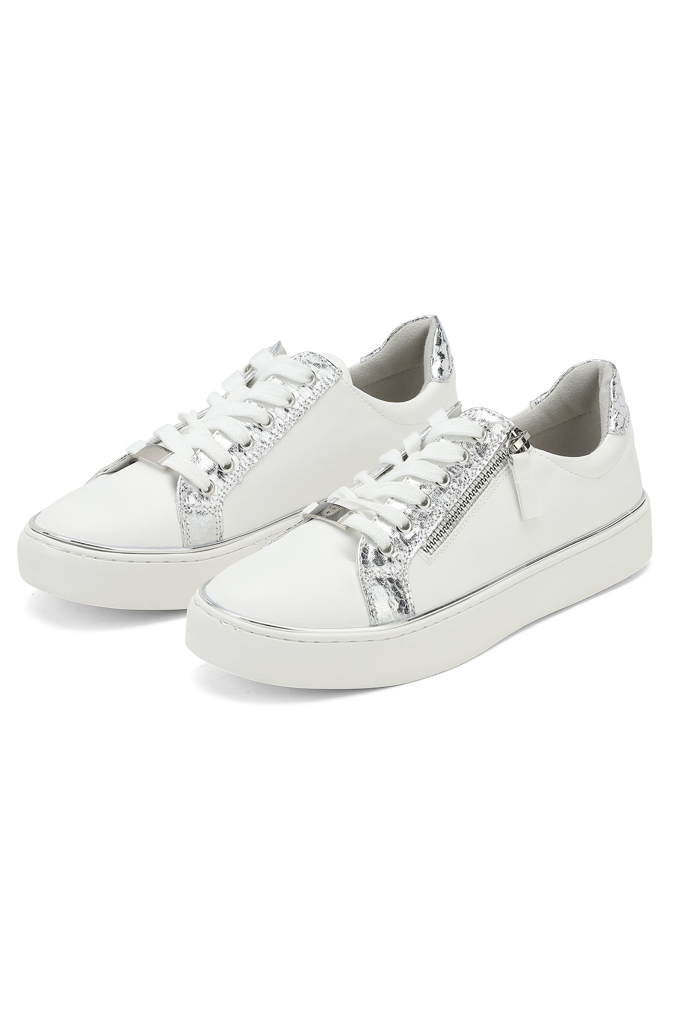 Sneakers with silver-coloured details