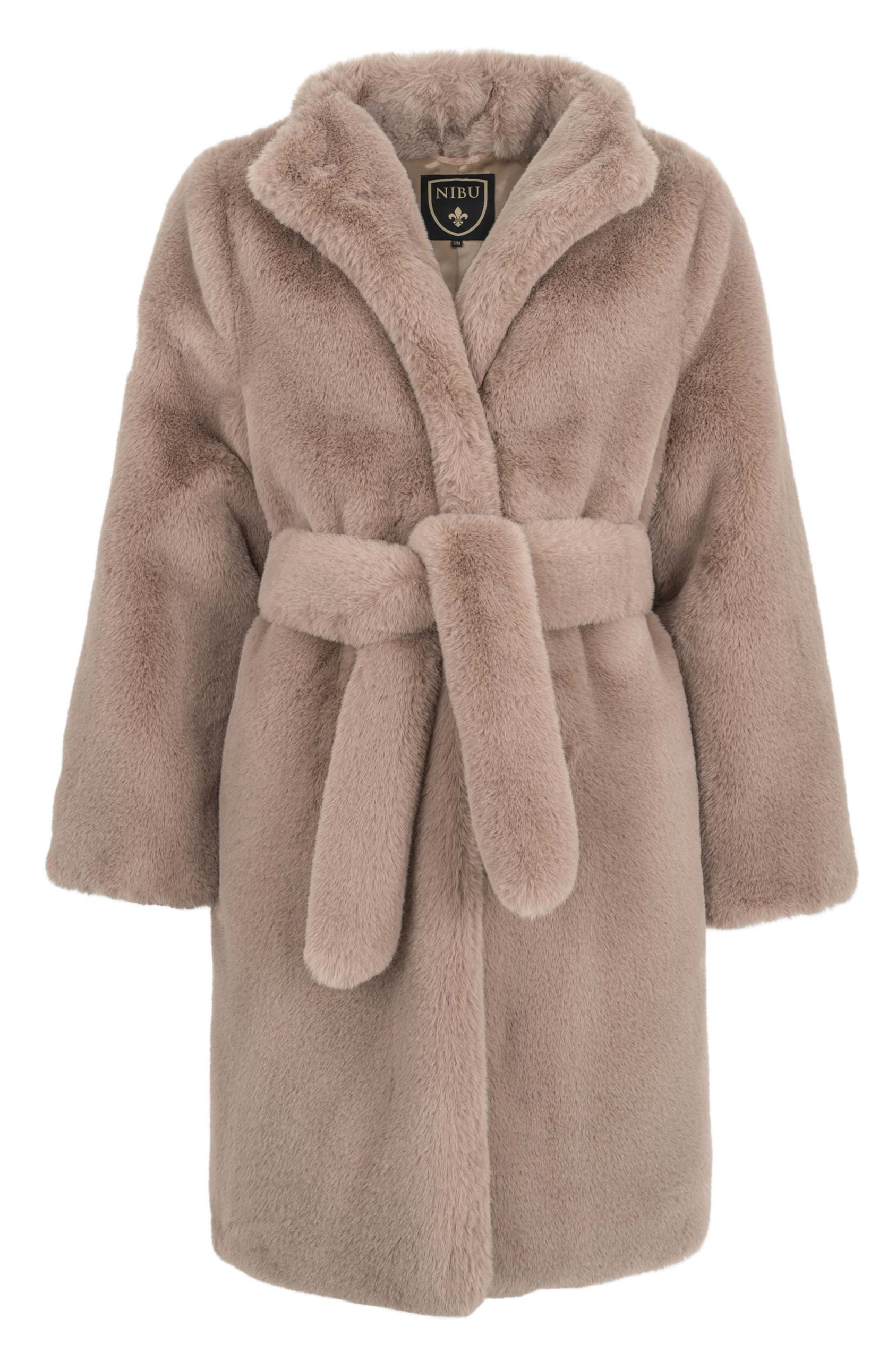 Stunning light brown faux-fur long jacket (Limited edition)